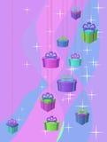 Étoiles et cadeaux Image libre de droits