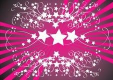 Étoiles et centrales illustration de vecteur