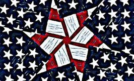 Étoiles et fond américains de pistes Image stock