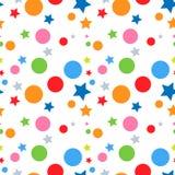 Étoiles et fond sans joint de cercles Image libre de droits