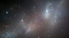 Étoiles et galaxies sur le fond de starfield Photographie stock libre de droits