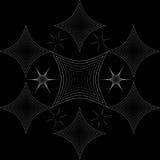 Étoiles et losanges de résumé illustration de vecteur