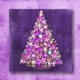 Étoiles et lumières de rochet de cartes de Noël Photo libre de droits