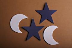 Étoiles et lune Images libres de droits