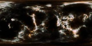 Étoiles et nébuleuse d'espace lointain panorama de 360 degrés Photographie stock libre de droits