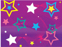 Étoiles et ondes Image stock