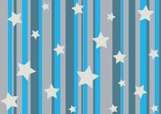Étoiles et pistes illustration stock