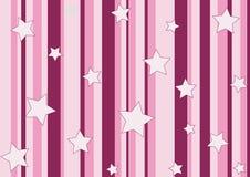 Étoiles et pistes roses illustration libre de droits