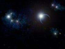 Étoiles et planète Photo stock