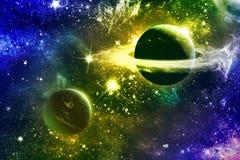 Étoiles et planètes de nébuleuse de galaxie d'univers Photographie stock libre de droits