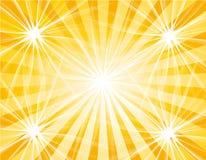 Étoiles et soleil illustration de vecteur
