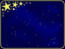 Étoiles et trame bleue Photo stock