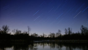 Étoiles filantes de nuit Images stock