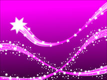 Étoiles filantes lilas Photo libre de droits