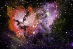 Étoiles, galaxies et nébuleuses dans l'image cosmique impressionnante illustration libre de droits