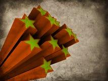 Étoiles grunges illustration libre de droits