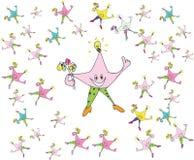 Étoiles heureuses de smiley Photos libres de droits
