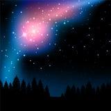 Étoiles la nuit illustration de vecteur