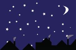 Étoiles la nuit Image libre de droits