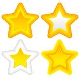 Étoiles lumineuses avec les coins arrondis, contours épais Illustration de Vecteur