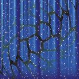 Étoiles lumineuses avec une grille Photos stock
