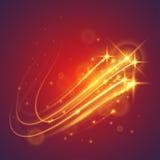 Étoiles magiques de vol Photographie stock