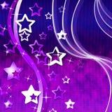 Étoiles mauve de vague d'expositions de fond et tenu le premier rôle illustration stock
