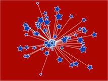 Étoiles patriotiques Images stock