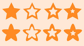 Étoiles pour l'illustration de vecteur de site et de jeu Photographie stock