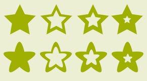 Étoiles pour l'illustration de vecteur de site et de jeu Image stock