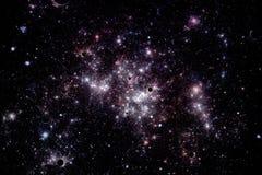 étoiles profondes de l'espace de nébuleuse d'image de nuages Photos stock