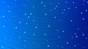 Étoiles rougeoyantes abstraites à l'arrière-plan bleu illustration de vecteur