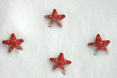 Étoiles rouges Photos stock
