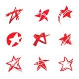 Étoiles rouges Image libre de droits