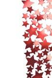 étoiles rouges d'isolement par vacances de trame Photos stock