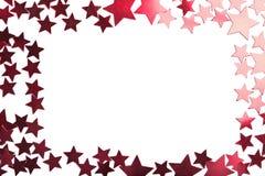 étoiles rouges d'isolement par vacances de trame Photographie stock