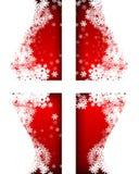 étoiles rouges de flocons de neige de fond Photo libre de droits