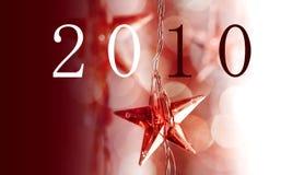 Étoiles rouges de Noël Images libres de droits