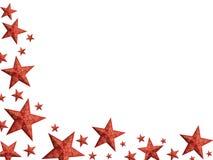 Étoiles rouges lumineuses de Noël - d'isolement Image libre de droits