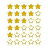 Étoiles simples d'estimation sur le fond blanc Vecteur Images stock