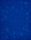 Étoiles subtiles sur le bleu Photo stock