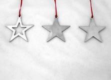 Étoiles sur le blanc. Photo stock