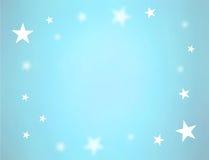 Étoiles sur le bleu illustration de vecteur