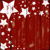 Étoiles sur le bois Photo libre de droits