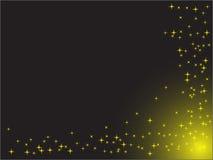 Étoiles sur le fond noir Photo libre de droits