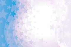 Étoiles sur le fond ondulé illustration libre de droits