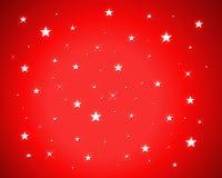 Étoiles sur le fond rouge Photos libres de droits