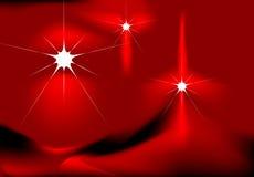 Étoiles sur le fond rouge Photographie stock