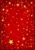Étoiles sur le fond rouge Image libre de droits