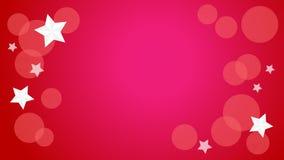 Étoiles sur le fond rouge Images libres de droits